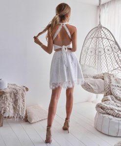 Weißes Hippiekleid für Frauen