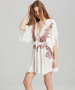 Bohemian chic geblümtes Kleid