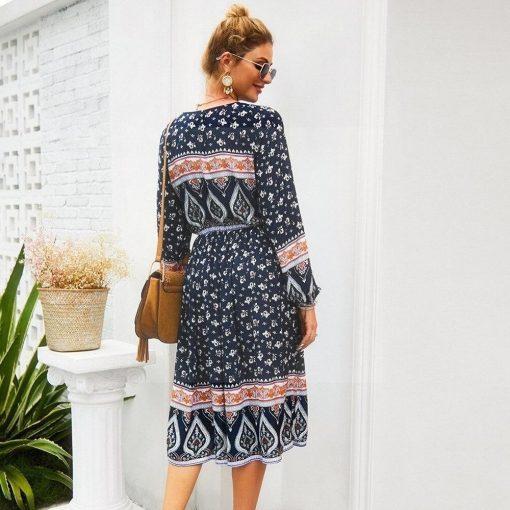 Kleid aus Baumwolle im Bohemian Chic