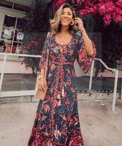 Hippie langes Kleid boho